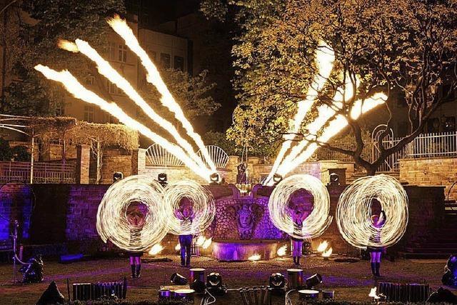 Feuerzauber und Musik in Kalrsruhe
