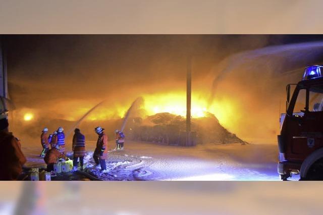 Großbrand zerstört Recyclinglager
