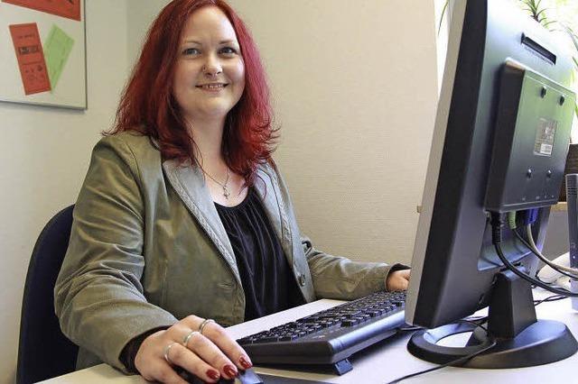Ausbildungsberuf Gesundheitskauffrau: Yvonne Faulhaber hat eine neue Chance erhalten