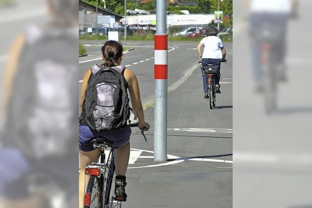 Neue Ampelmasten stören Radfahrer in Zähringen