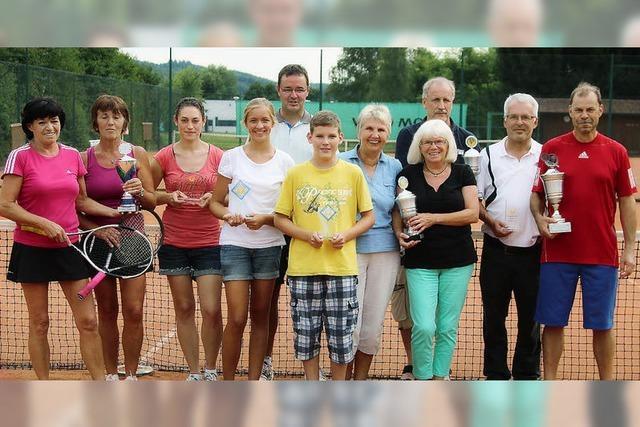 Sehr spannende Tennisspiele