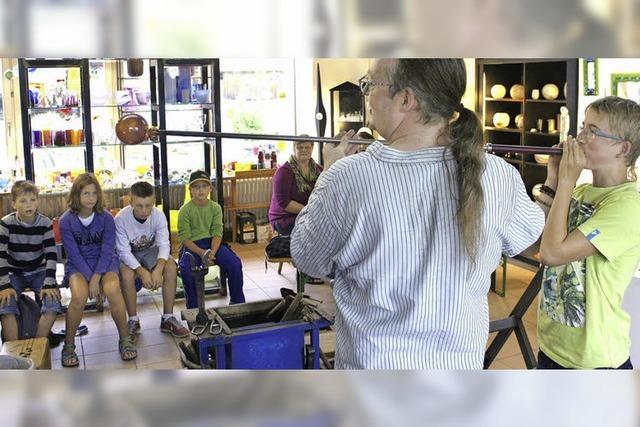 Interesse der Kinder an alter Handwerkskunst ist groß