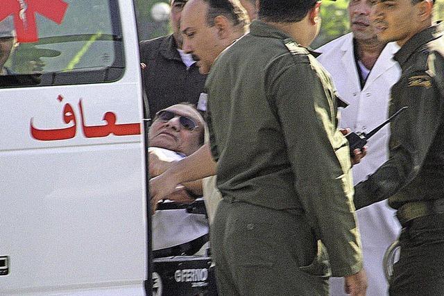 Mubarak verlässt das Gefängnis