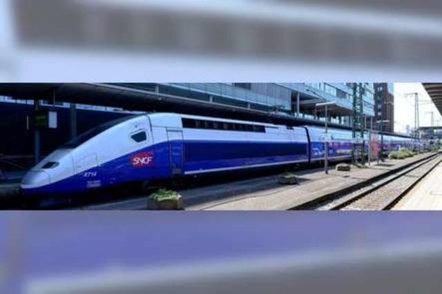 Der TGV von Freiburg nach Paris nimmt die Fahrt auf