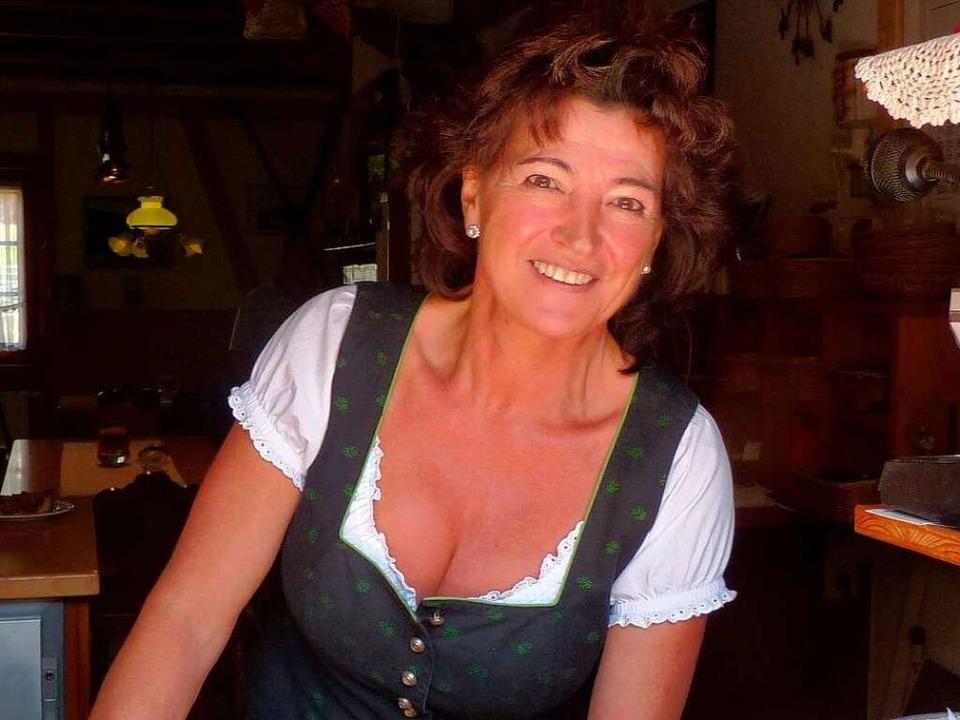 Rosi Eichin von der Fischerhütte freut sich immer, wenn viel Betrieb herrscht  | Foto: Dirk Sattelberger