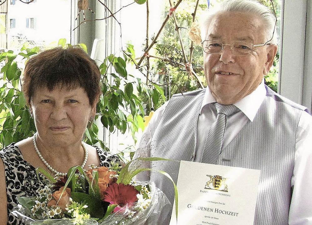 Goldene Hochzeit: Irmentraud und Paul Riesterer   | Foto: Manfred Lange