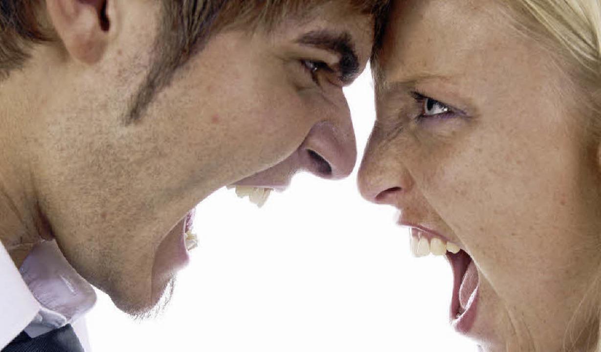 Geschrei und böse Worte: Scheidungen s...tion soll einen Kleinkrieg verhindern.  | Foto: dpa