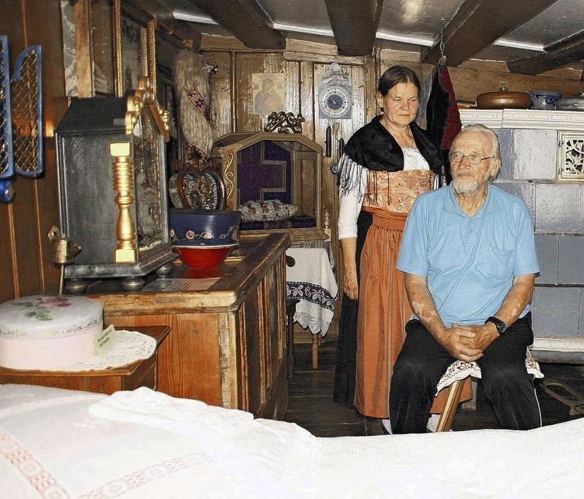 Erwin und Heidemarie Krützfeldt in ihrem Neudingen Heimatmuseum.  | Foto: Wolfgang Losert
