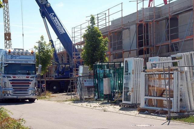 Die Bauarbeiten am Generationenhaus liegen im Zeitplan