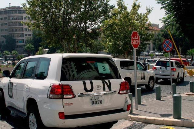 UN-Inspekteure geraten in Syrien unter Beschuss