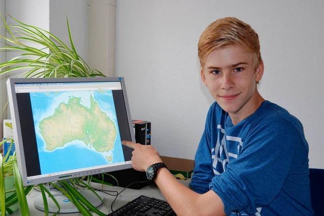 Raphael Glaser geht ein halbes Jahr in Australien zur Schule