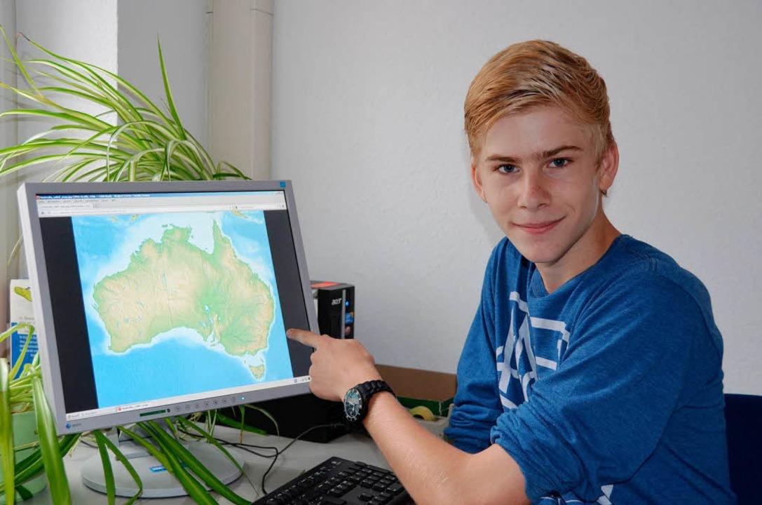 Raphael Glaser aus Breisach freut sich auf seinen Aufenthalt in   Australien.  | Foto: eli