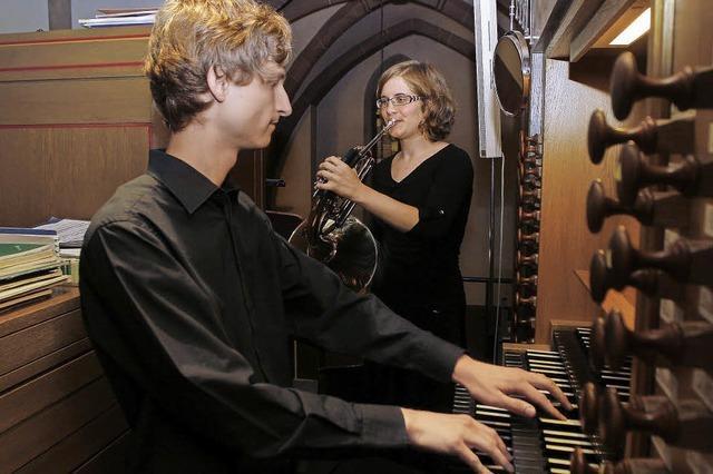 Horn und Orgel im Einklang