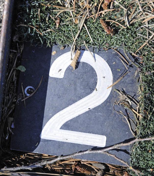 Wer sucht wird fündig: Bahn zwei ist f...e restlichen Zahlen sind verschwunden.    Foto: Robert Bergmann