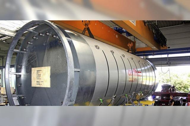 80 Tonnen schwere Großanlage auf dem Weg nach China