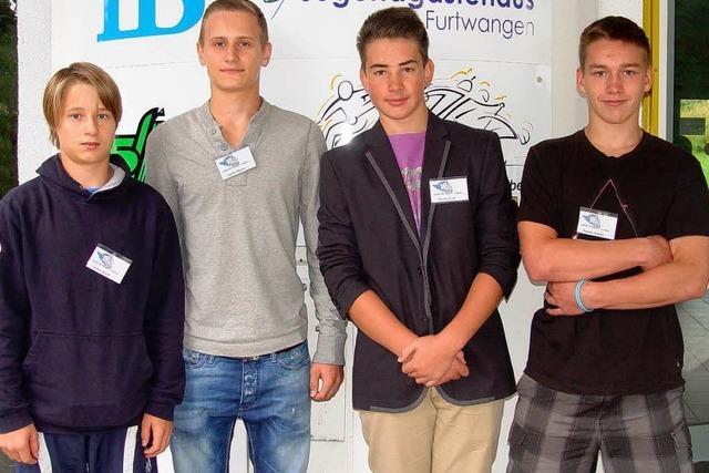 Schwenninger Eishockeytalente am Skiinternat Furtwangen