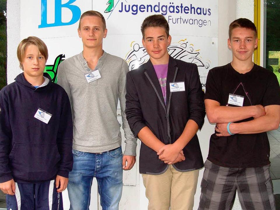 Vier von fünf Talenten: Die SERC-Nachw...gebracht. Es fehlt Matthias Ungemach.   | Foto: Heinz wittmann