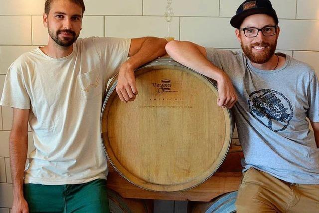 Zwei junge Krozinger gründen Weingut der etwas anderen Art