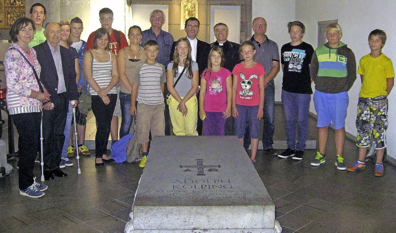 Die Kolpingfamilie aus dem Schwarzwald...etzten Ruhestätte von Adolph Kolping.   | Foto: privat