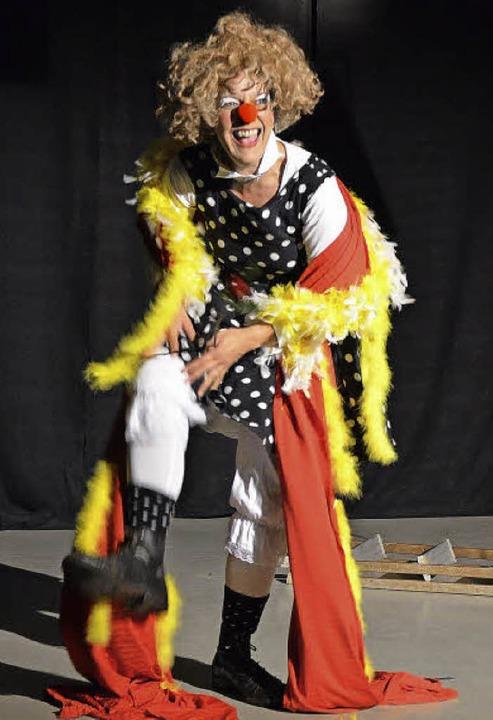 Geht als Clown voll in ihrer Rolle auf: Anja Faller   | Foto: Wehrle