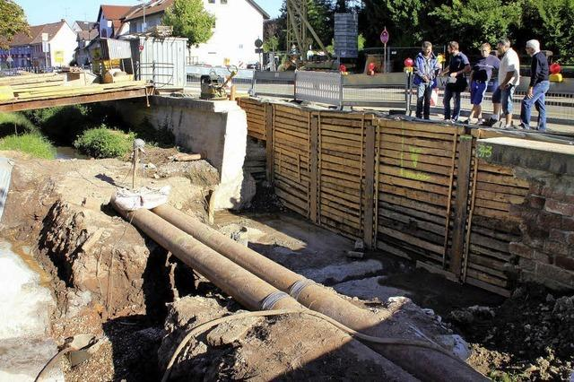 Alte Brücke über den Ettenbach muss ersetzt werden