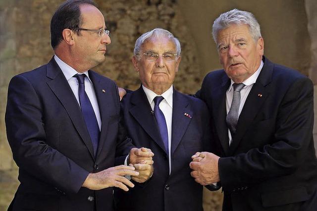 Deutsch-französische Feierstunde in Oradour-sur-Glane: Die schwierige Versöhnung