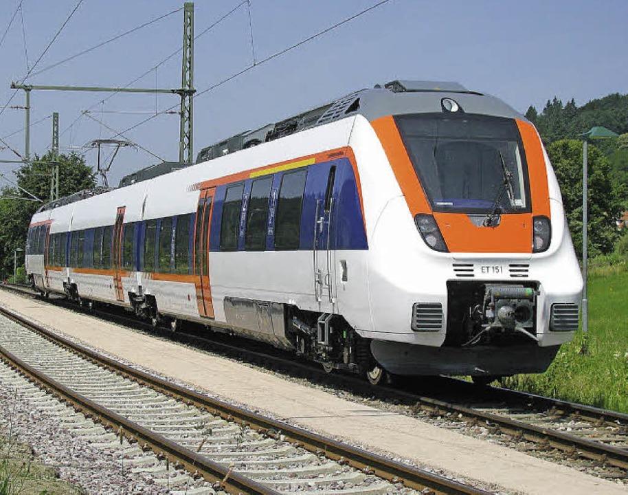 Mit den neuen Talent-Triebwagen der SW... das elektrische Zeitalter angekommen.  | Foto: M. Lange