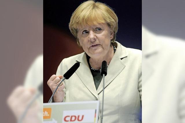 Kanzlerin macht Wahlkampf im Europa-Park-Dome