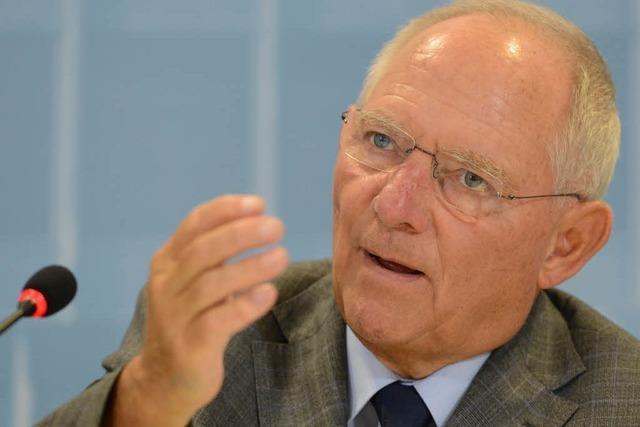 Schäuble kritisiert grün-rote Finanzpolitik