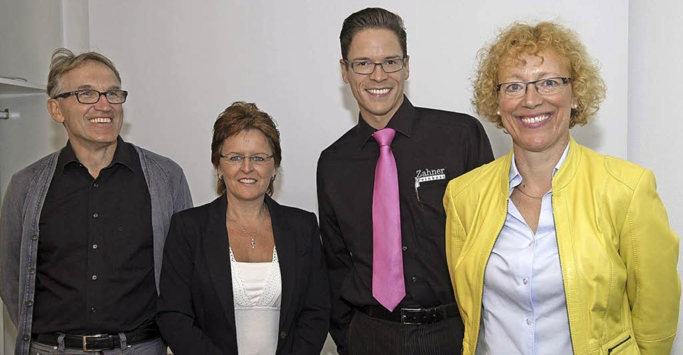 Die Kooperationspartner beim Mensabetr...ner und Maria Laschinger (von links).   | Foto: Münch