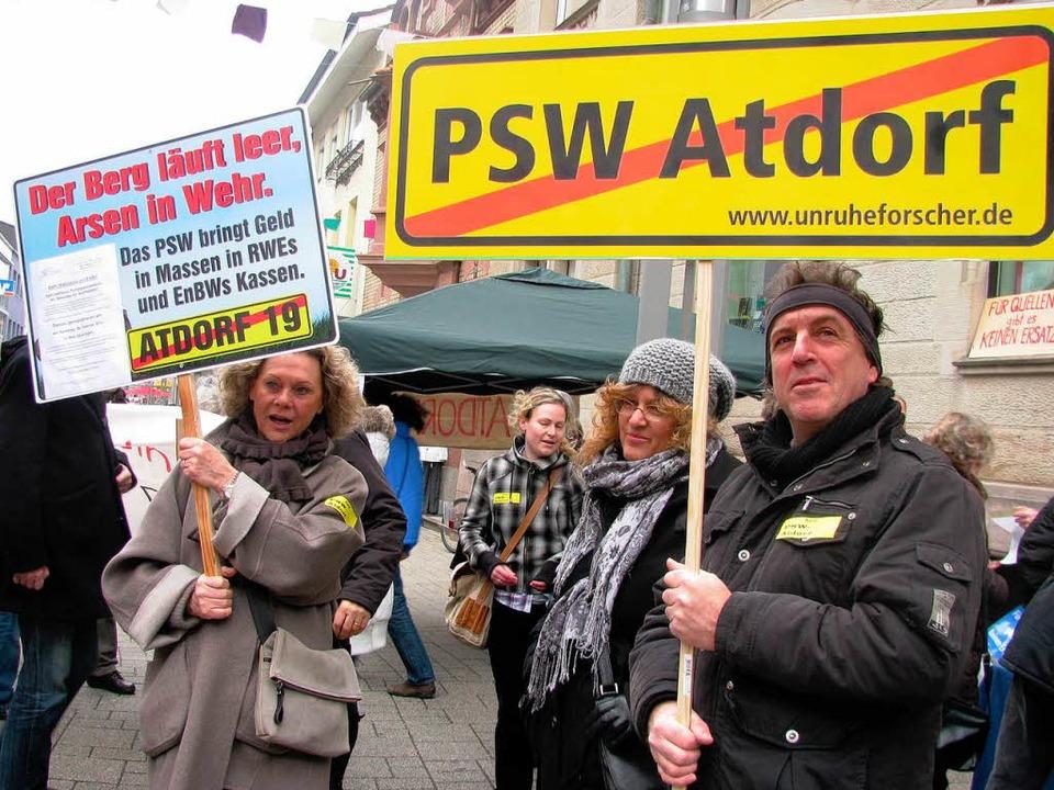 Für die Demonstranten der BI Atdorf wa...des Projekts  Atdorf ein Thema werden.  | Foto: Archivfoto: Michael Gottstein