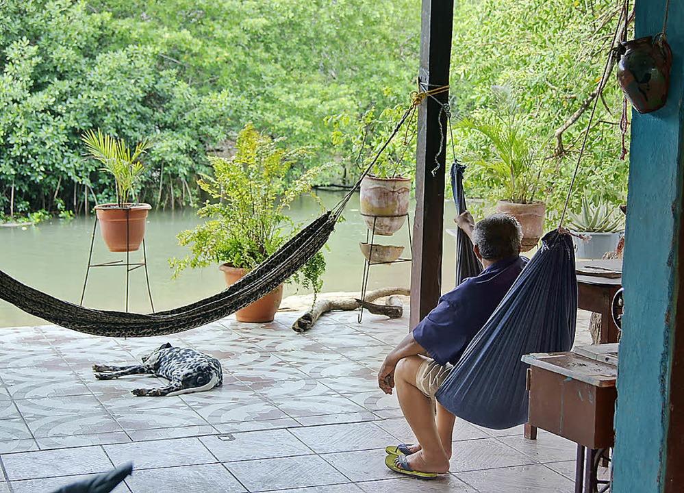 Nur keine Hektik: Ladenbesitzer in Nicaragua   | Foto: Markus Emerich
