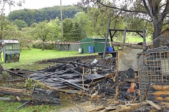 Gartenhütte abgebrannt