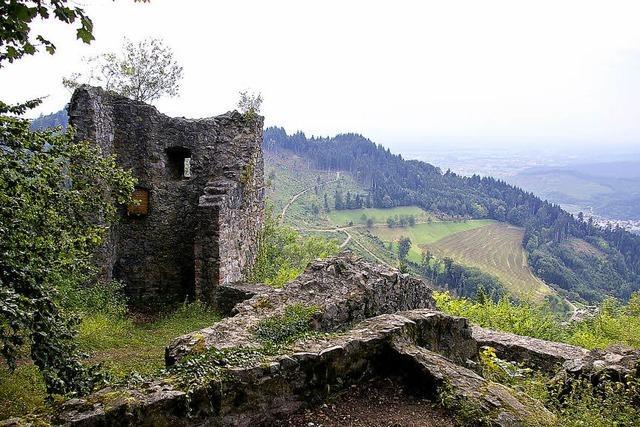 Ruine erinnert an Schwarzenberger