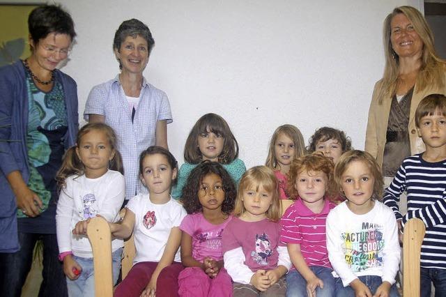 Kindergartenkids im Englisch-Wunderland