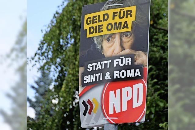 Friedensrat erstattet Anzeige wegen NPD-Plakat