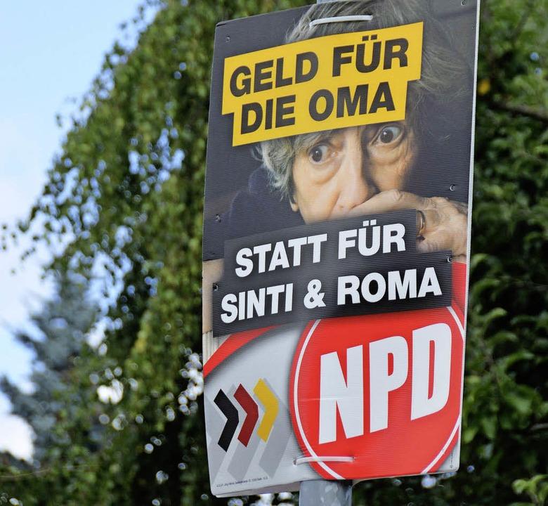 Mit üblen Parolen  geht die NPD auf Stimmenfang.  | Foto: Martin Wunderle