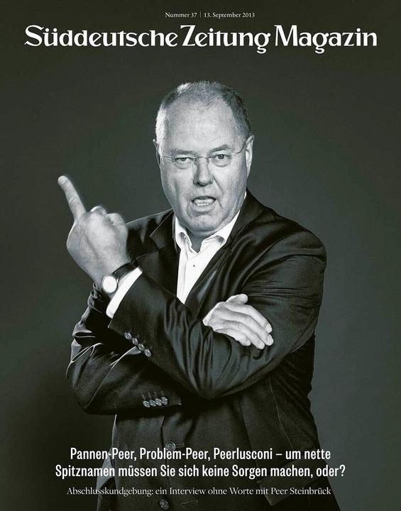 Peer Steinbrück Stinkefinger