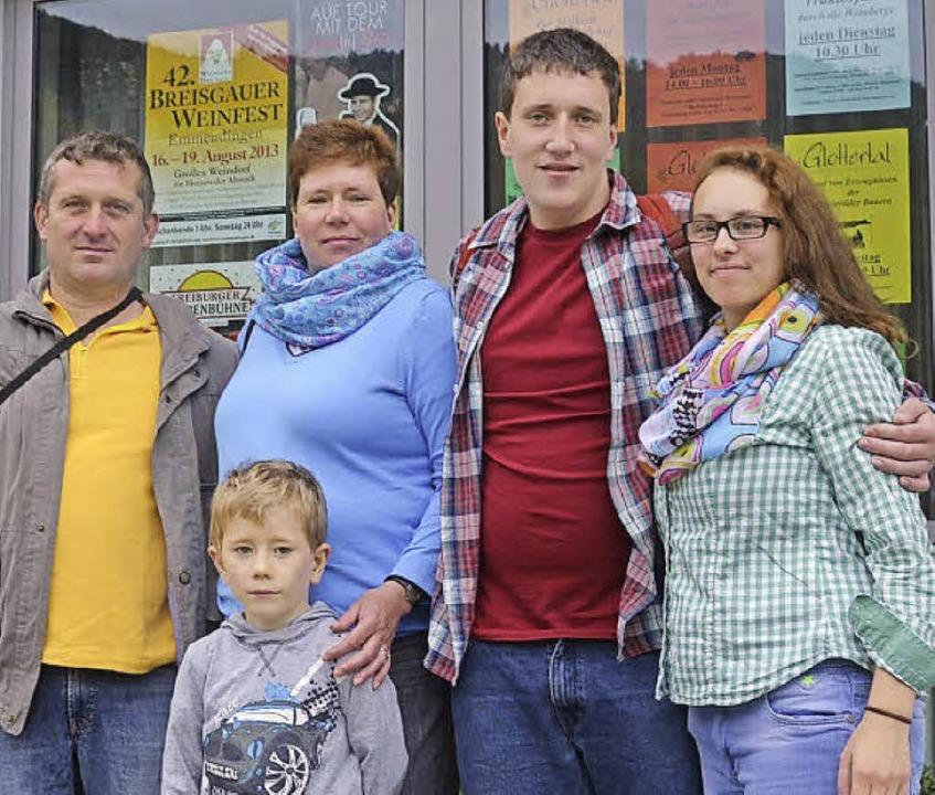 Familie Tausch aus Bocholt  macht Urlaub im Glottertal.     Foto: Andrea Drescher