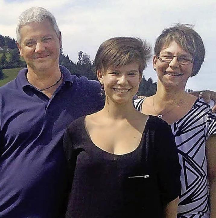Fühlen sich in  Horben sehr wohl: Familie Looß aus Bayern.     Foto: Meyer
