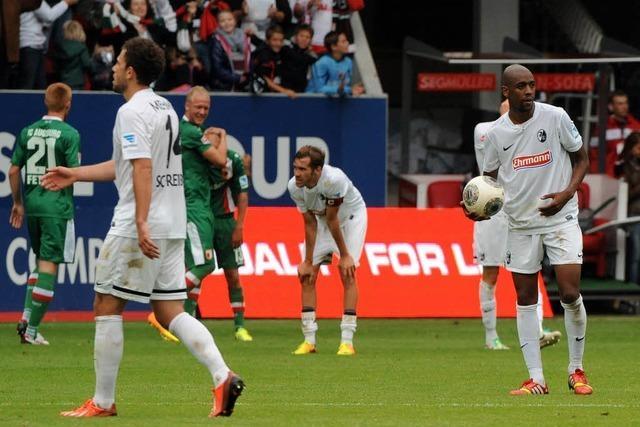 Freiburg kämpft vergebens und verliert 2:1 in Augsburg