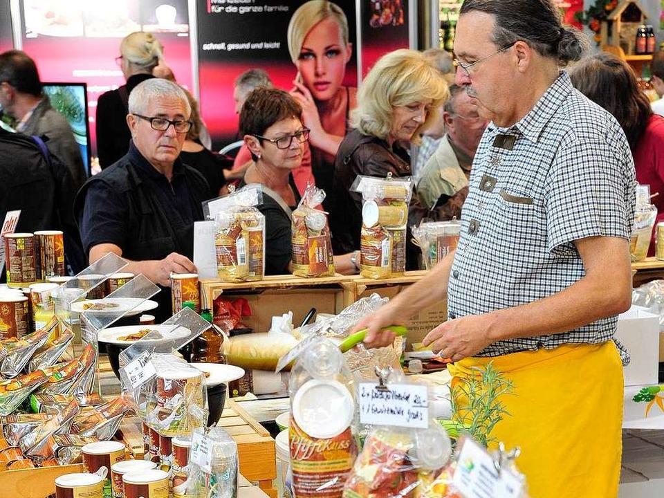 Auf der Badenmesse gibt's auch Essbares.  | Foto: Thomas Kunz