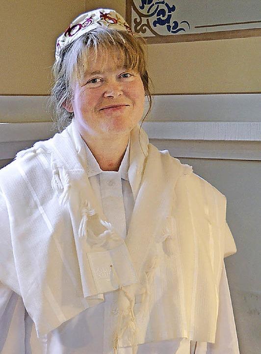 Annette Böckler leitete die Liturgie bei den Gottesdiensten.    Foto: Martin Pfefferle