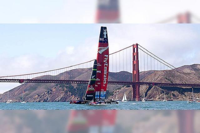 Spektakulärer Segelkrimi in der Bucht von San Francisco