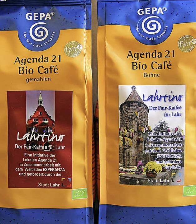 Lahrtino, gemahlen und als Bohnenkaffee   | Foto: Stadt
