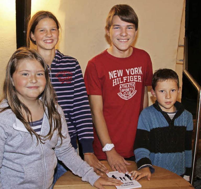 Sie gestalten die Lesenacht für Kids: ...inks) Marlene, Marie, Robin und Cedric  | Foto: Friederike Marx-Kohlstädt