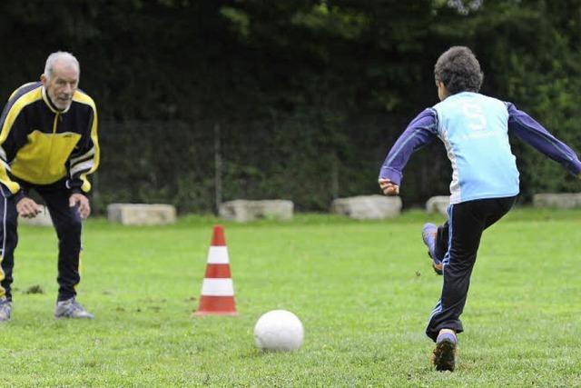 Spaßfußball mit Einzelbetreuung