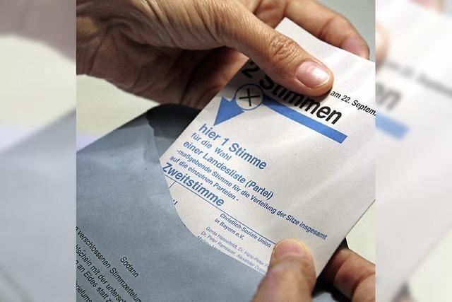 Höchststand bei der Briefwahl