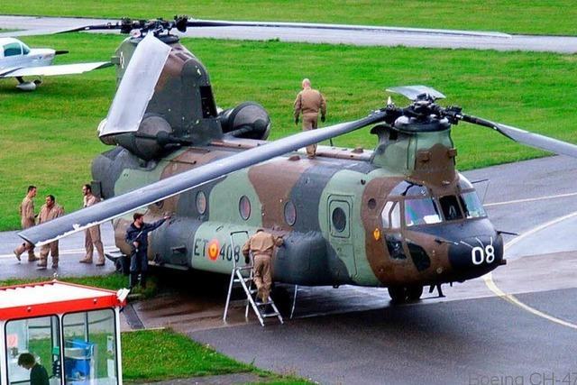 Spanische Helikopter flogen nur 73 Meter über Emmendingen