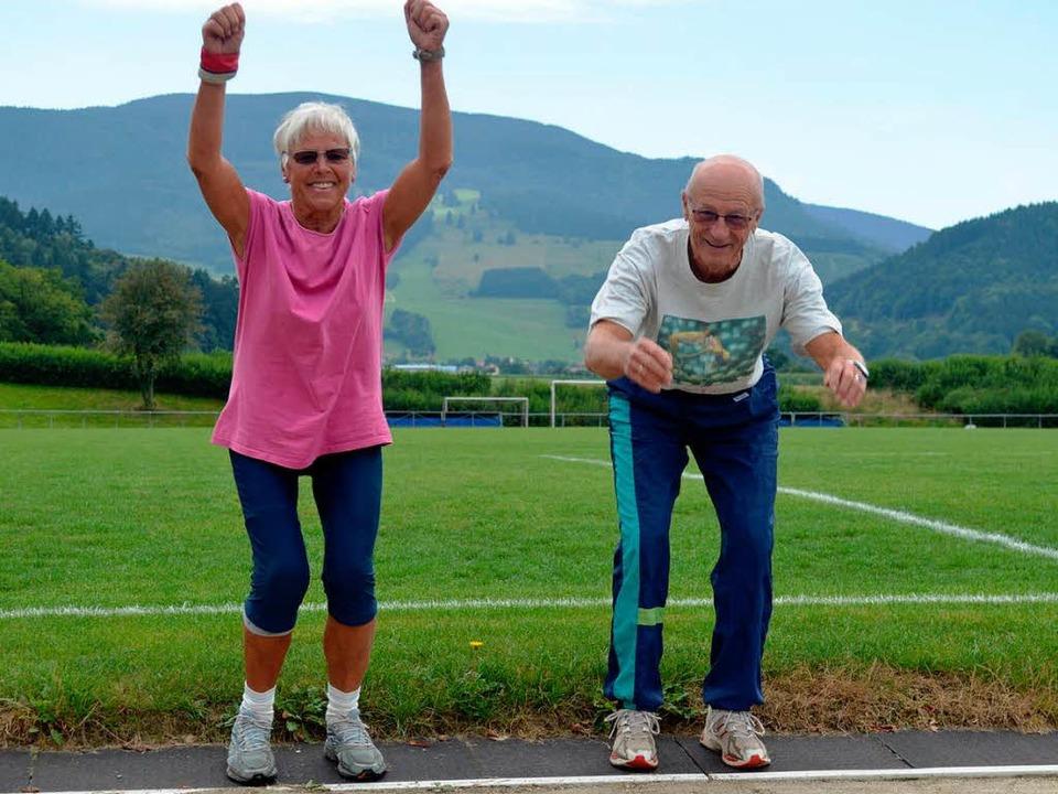 Das sportliche Ehepaar Brundhilde und Jörg Röder aus Kirchzarten  | Foto: Gerhard Lück